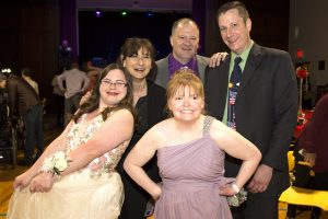 teachers and students at prom