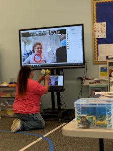 students learning virtually in Avon classroom